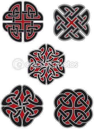 Набор элементов, кельтский дизайн — Векторная картинка #3853399