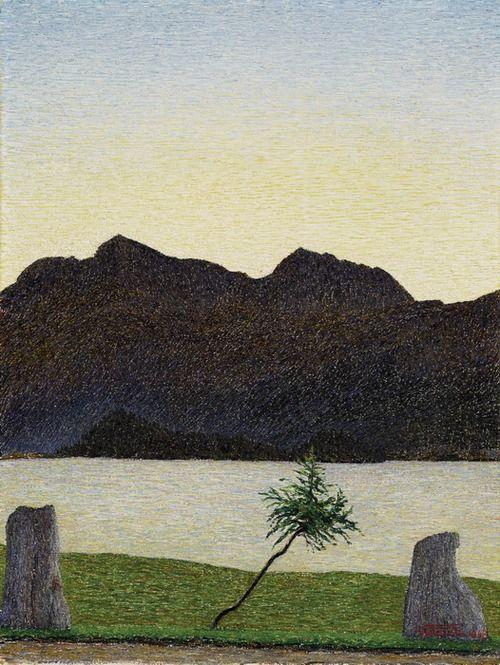 Morgenstimmung am Silsersee, Gottardo Segantini