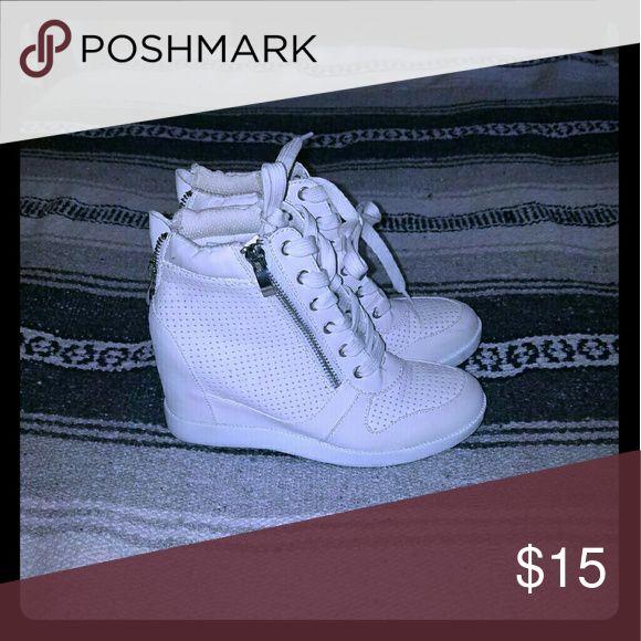 White wedge sneakers White wedge sneakers Shoes Wedges