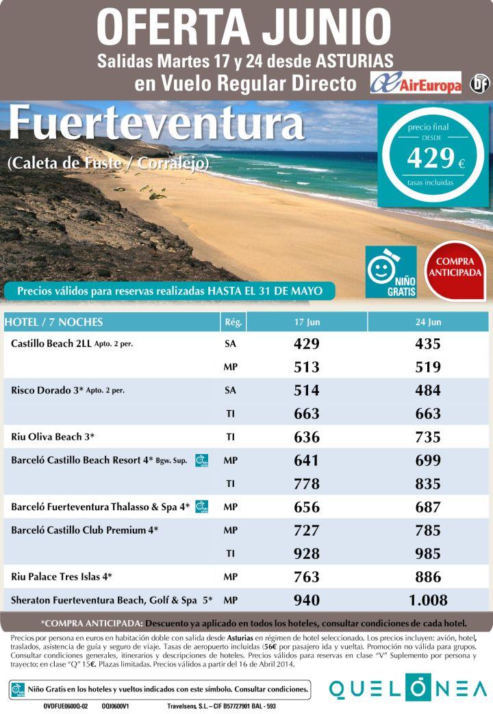 Oferta Junio Fuerteventura(Caleta Fuste/Corralejo) desde 429€ tax incl. Salidas 17 y 24 desde OVD ultimo minuto - http://zocotours.com/oferta-junio-fuerteventuracaleta-fustecorralejo-desde-429e-tax-incl-salidas-17-y-24-desde-ovd-ultimo-minuto/