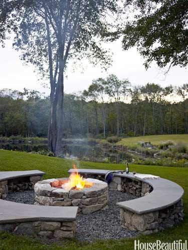 A Family Fire Pit - House Beautiful