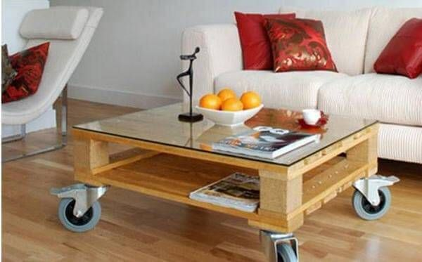 All of us have sofas in our living rooms, but they are incomplete without a table. Table sofa is the best to be placed in the center of the sofas; you can make these tables by yourself as well. Use wooden pallets and make a table in whatever shape you would love to have. See this amazing table in the picture below.