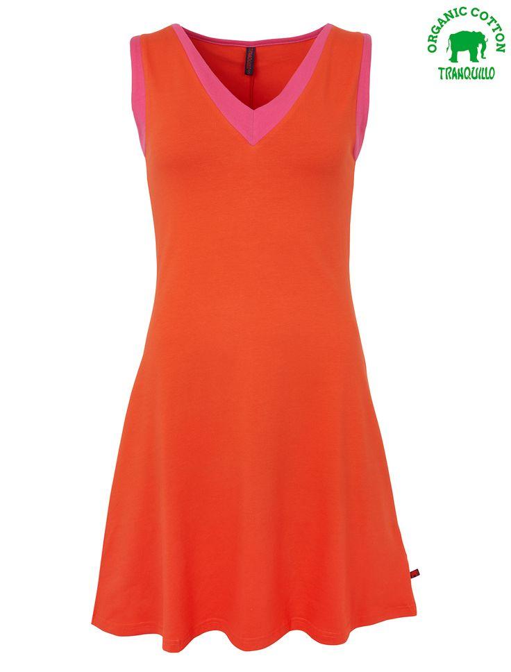 Tranquillo Kaja dress melon orange pink jurk meloen oranje roze alijn aline