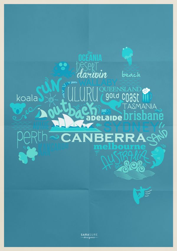 Australia by Sara Sicuro, via Behance