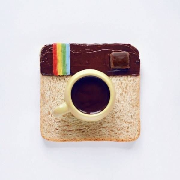 Breakfast toast ~ Tartine du petit-déjeuner ~~~ #instagram #cafe #chocolate ~~~ Source : Daryna Kossar ~~~ Piu Design