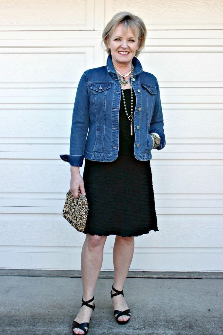 How to Style a Black Dress for Spring By A Well St… – #black #Dress #over50 #s…
