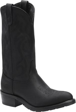 Men's Double H Boot 12 Inch AG7 Work Western - Black Oiltan