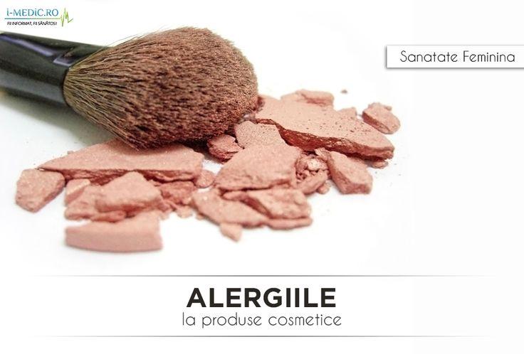 De la simpla roseata pana la soc anafilactic, reactiile alergice la produsele cosmetice sunt numeroase, afectand aproximativ 15 - 20% din populatie - http://www.i-medic.ro/sanatate-feminina/sfaturi-utile/alergie-la-produse-cosmetice