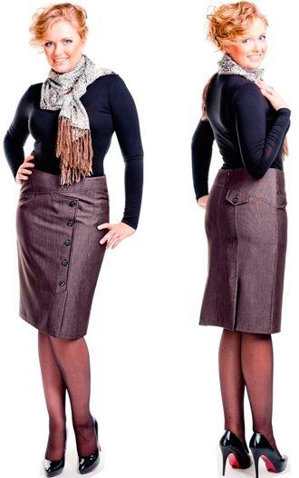 Модели юбок для полных женщин Юбки