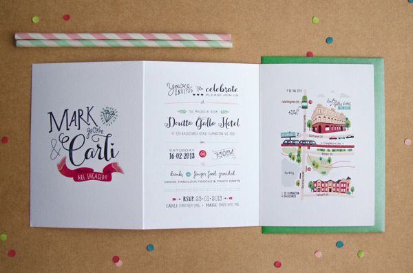 Carli & Mark's Engagement Invitation by Love Carli by Carli Foot, via Behance