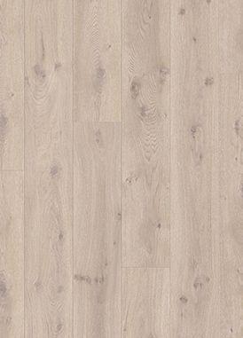 Pergo Long Plank, moderne grå eik. Kvalitetslaminat i lys og fin farge som går relativt raskt å legge.