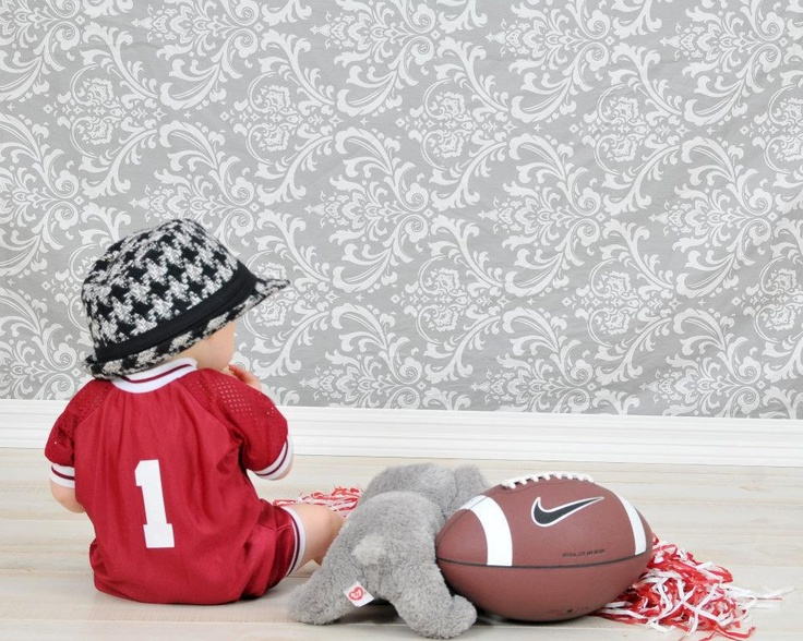 alabama baby...I like this but with Florida for me and FSU for her daddy.