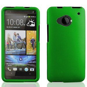 Green, Solid Rubberized Touch 2 Piece Snap On Case Cover Protector for HTC One M7 M 7 LTE (AT&T, T Mobile, Sprint) -- Screen Protector Included, http://www.amazon.com/dp/B00C9KDH2M/ref=cm_sw_r_pi_awdm_c2Qftb05MYPZQ