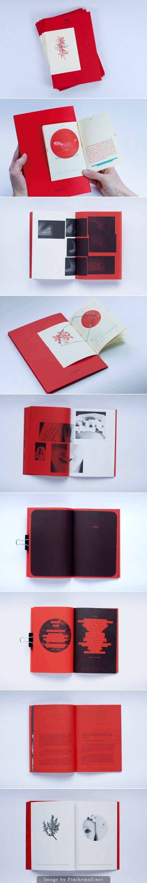 Red and white layout design