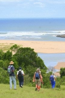 Strandloper Trails - Eastern Cape. Walk the magnificent beaches and unspoilt environment of the Wild Coast. Overnight at friendly small hotels and lodges with dinner, breakfast and packed lunch provided. Luggage transported between overnight stops, carry only day packs. Also hiking trail.