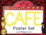 CAFE Posters for a Hollywood Themed Classroom