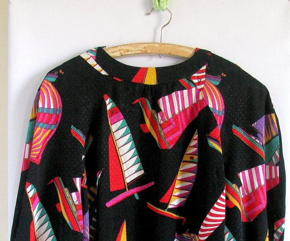 90s Stone Soft t Silk Painting Print Long Sleeve by vintachi, $22.00