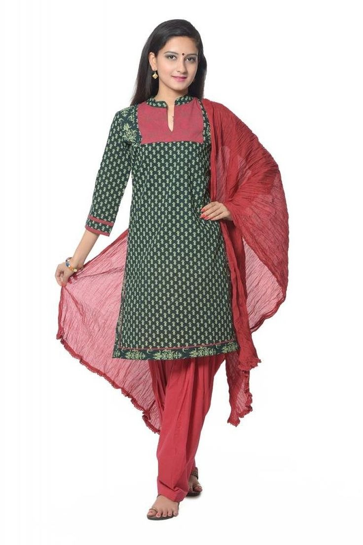 MAROON COTTON PATIALA WITH DUPATTA