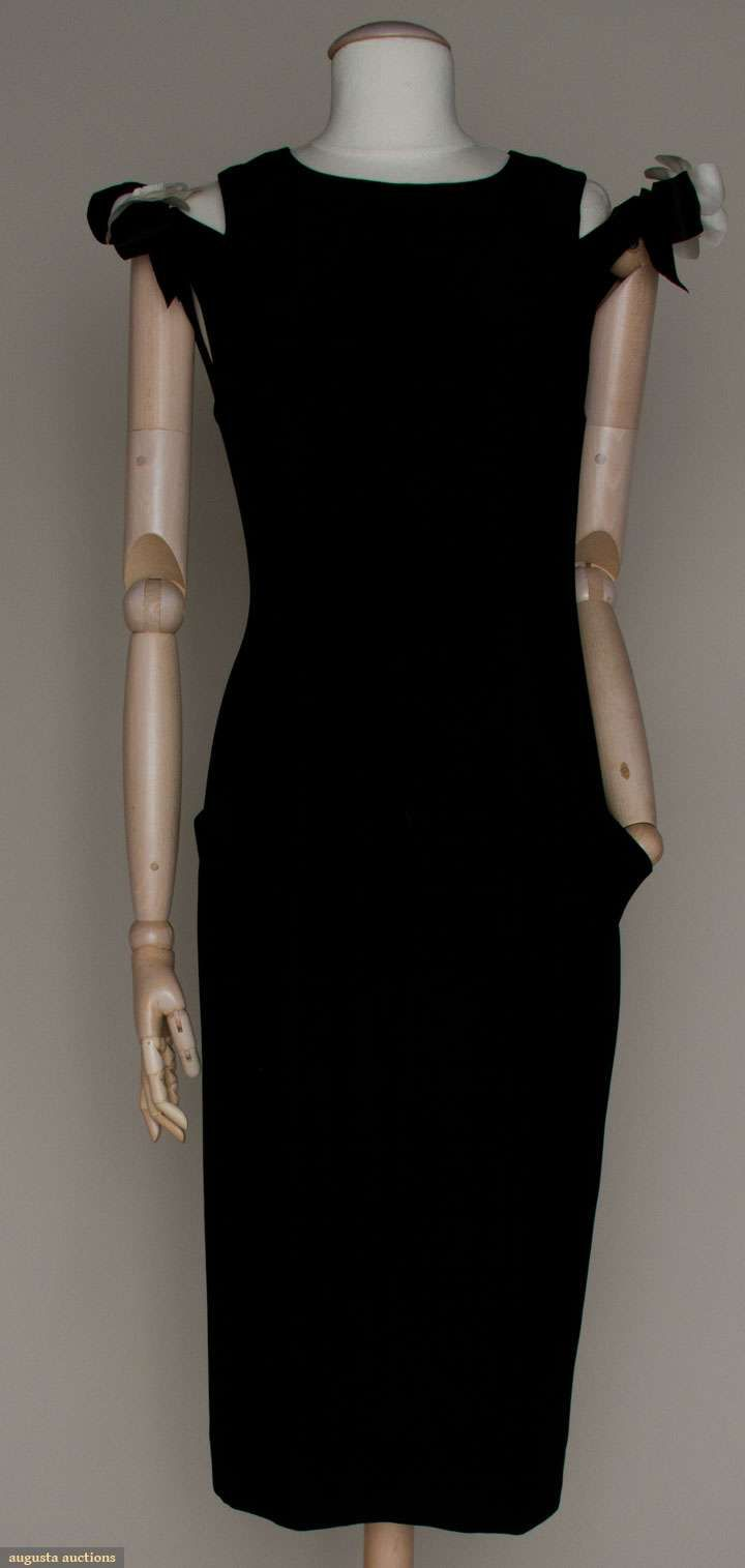 Augusta Auctions, March 21, 2012 NYC, Lot 7: Chanel Black Dinner Dress, 1960s
