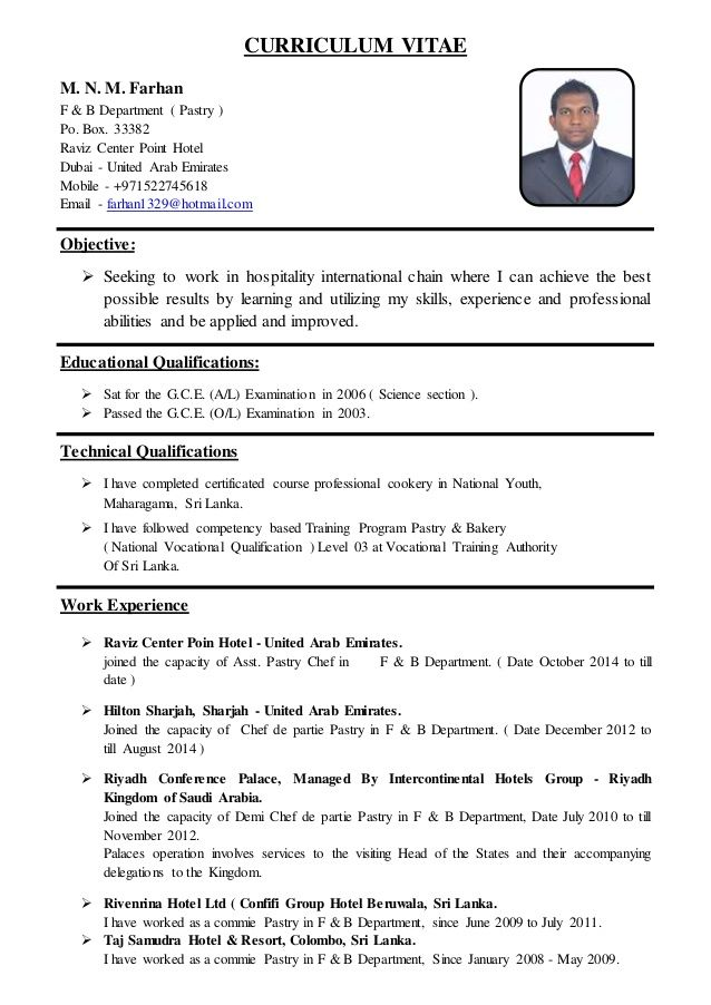 Related image Resume Examples Chef resume, Resume, Sample resume
