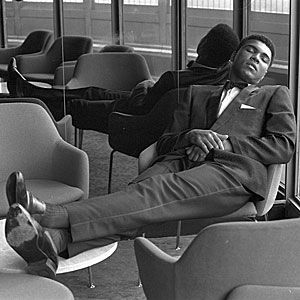 Muhammad Ali, heavyweight champion of the world ...years ago best dressed because he shows as much precision with his suiting as he did in the ring