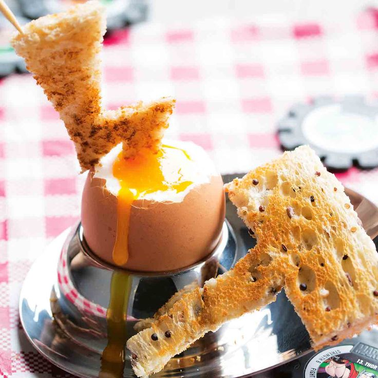 How to make Thor Egg & Hammer Toast Soldiers. Top tip from Fresh Magazine: To make the Thor-style toast shapes, toast bread first then use scissors to cut into hammer and lightning shapes ⚡️⚡️.