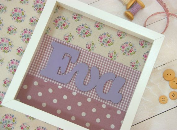 Girl's nursery decor/Personalized baby's Wall by CottonLullabyShop