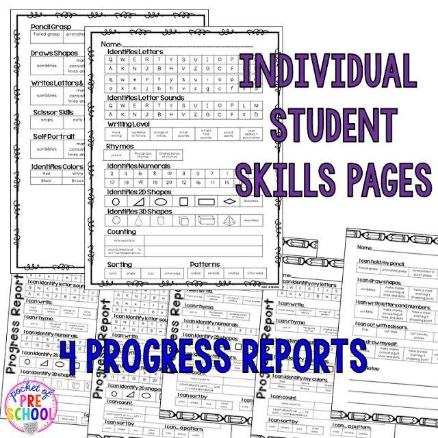 Portfolios & Assessments - Pocket of Preschool