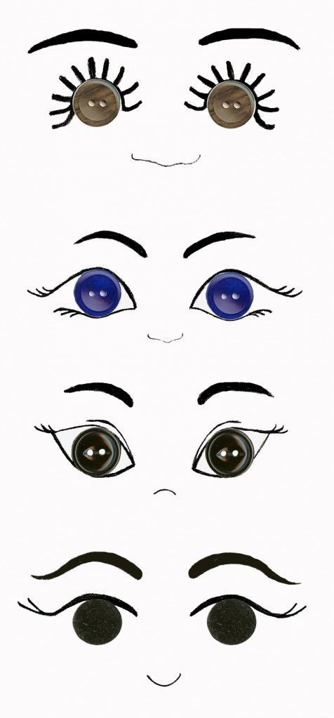 ideas for eyes using buttons