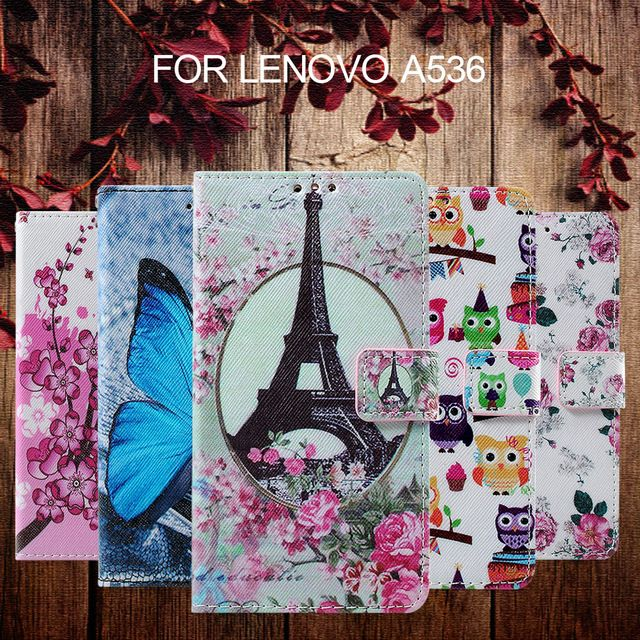 for Lenovo A 536 Leather Cover Bag Callfree Leather Wallet Phone Case for Lenovo A536 -  US $2.90