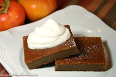 persimmon pudding | Very appropriate dessert for this time of year when the persimmons are ...
