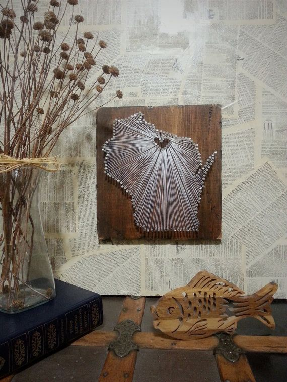 Wisconsin String Art State string Art by witheyesunlocked on Etsy