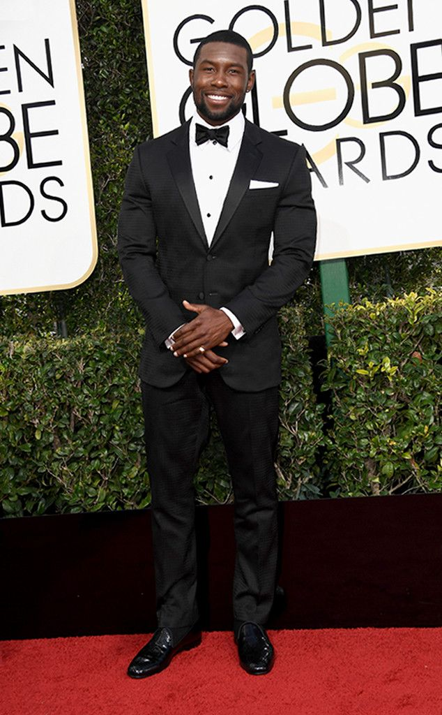 Trevante Rhodes from Best Dressed at Golden Globes 2017  The Moonlight star looks especially dapper on the Globes red carpet. Look a little closer at the actor's suit and you'll see a subtle texture that elevates the look to another level.