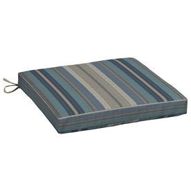 Allen + Roth Blue Stripe Seat Pad For Universal Ad30080b