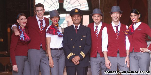 Air Canada rouge hipster flight attendant uniforms | CNN Travel