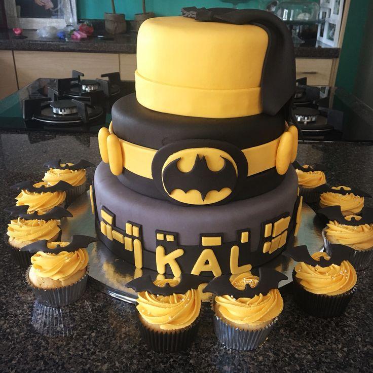 Batman cake pastel de Batman cupcakes