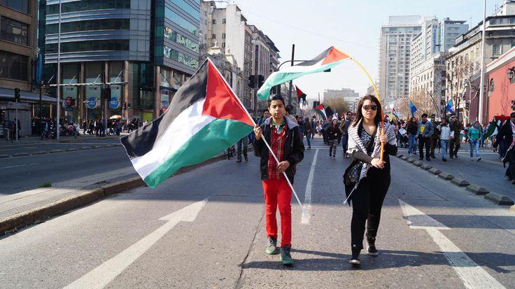 Descendientes de Palestinos contra la guerra.