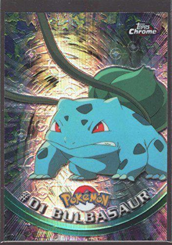 Bulbasaur Pokemon 2000 Topps Spectra Chrome Refractor #1 Insert Mint CCG