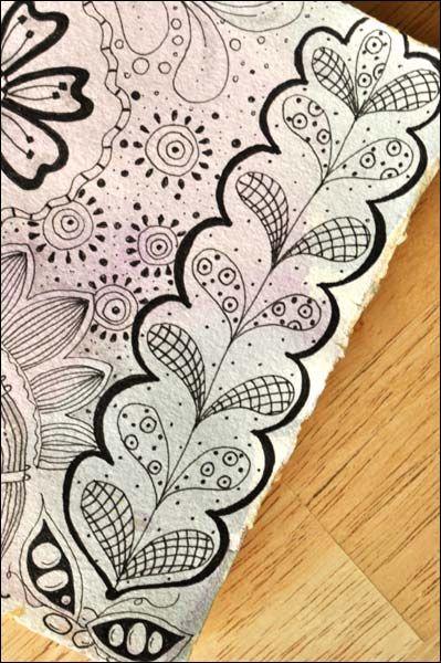 Zentangles! like a doodling meditation!: Doodles Zentangle Border, Zentangle Crafts Ideas, Art Journals, Cute Bookmarks, Zentangle Patterns And Ideas, Zentangle Doodles, Drawings Art Zentangle, Cute Doodles, Zentangle Fun