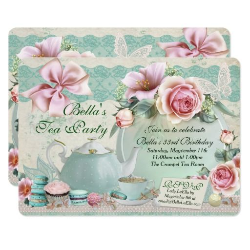 458 best tea party birthday invitations images on pinterest tea party birthday invitations stopboris Image collections