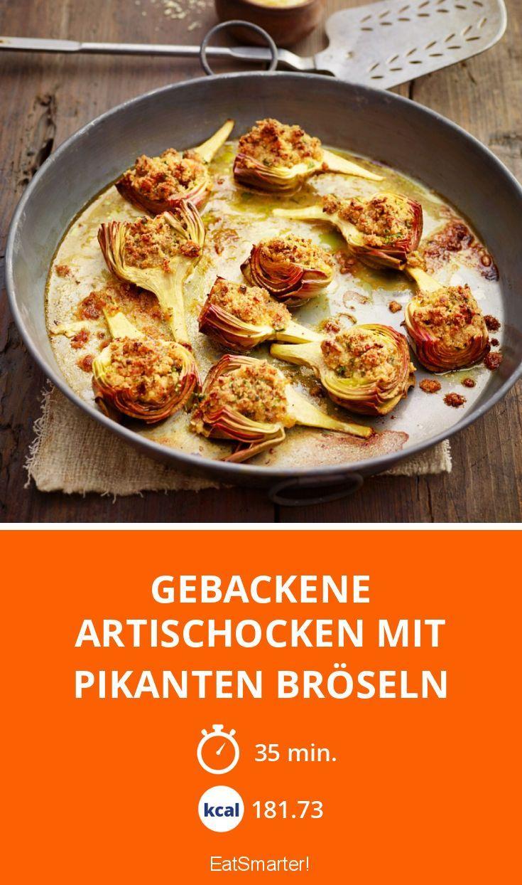Gebackene Artischocken mit pikanten Bröseln - smarter - Zeit: 35 Min. | eatsmarter.de