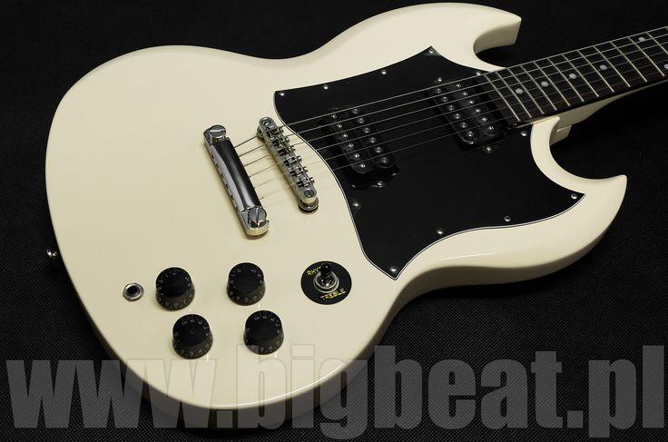 Epiphone G 310 VW. Tego modelu nie zobaczymy już na sklepowych hakach. Gitara od jakiegoś czasu nie jest już produkowana w tej wersji kolorystycznej.