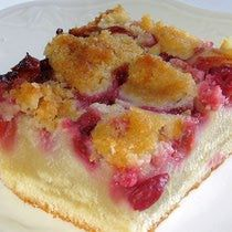 Krystyna's Polish Buttermilk Crumb Cake Recipe - Placek na Maslance z Kruszonka This recipe is from my cousin Krystyna who has an agrotourism farm in Turek, Poland. When I visited the family, this is one of the desserts she made. Any berry can be used, but I like raspberries.