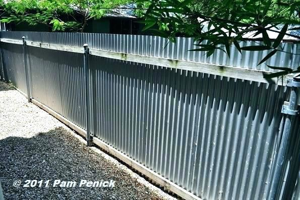 Corrugated Metal Chain Link Fence Google Search Metal Fence Corrugated Metal Fence Corregated Metal