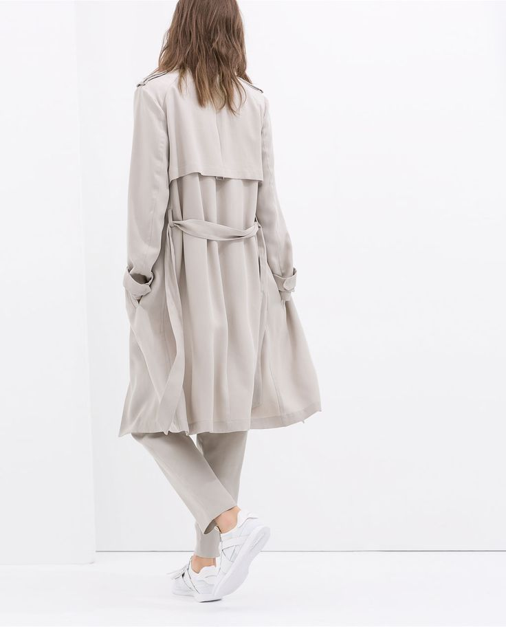 ZARA - WOMAN - LOOSE-FIT TRENCH COAT