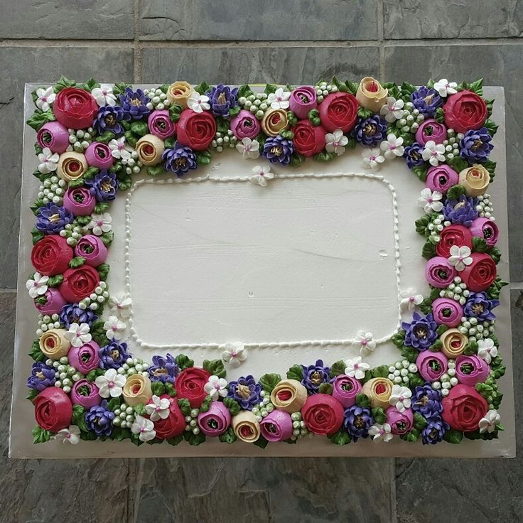 Sheet Cake Decorated With Flowers : 47 best Sheet cakes images on Pinterest