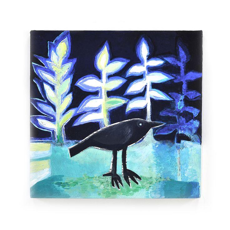 Black bird, painting