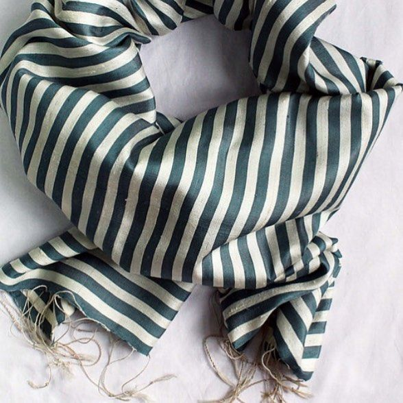 We are just crushing on these raw silk stripes today. #ES