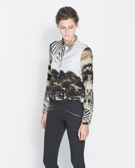 Image 1 of SAFARI PRINT SHIRT from Zara