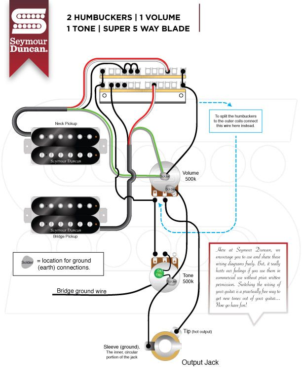 wiring diagrams  seymour duncan  seymour duncan  seymour